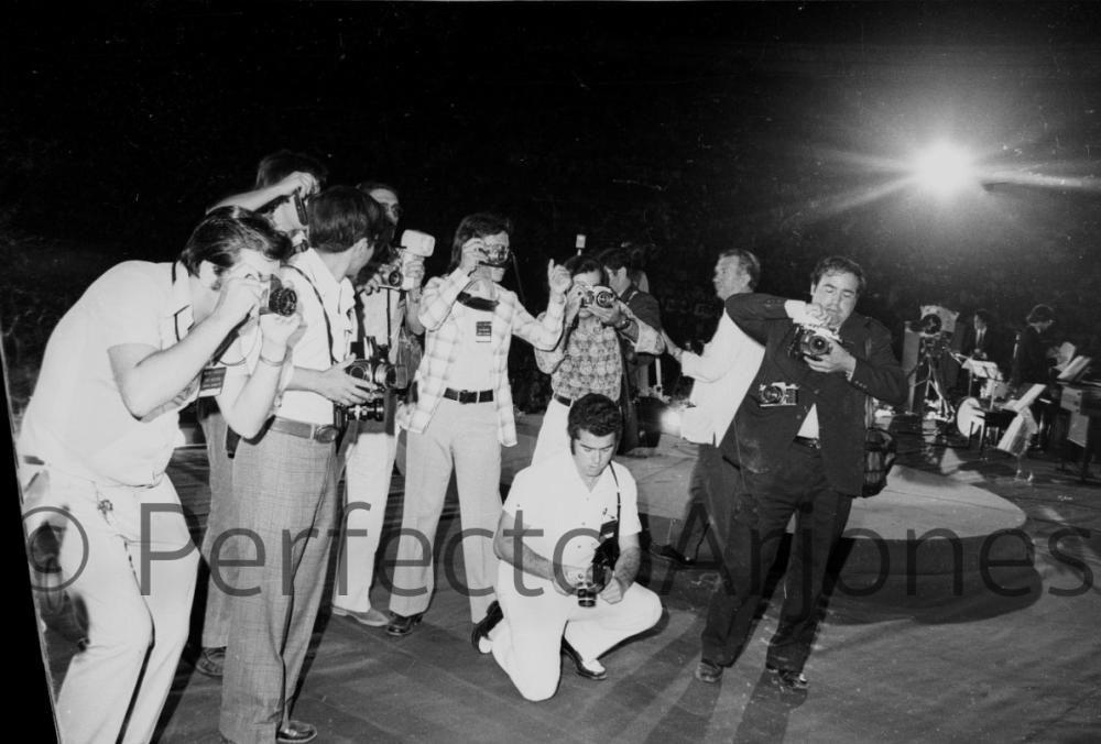 REPORTEROS GRÁFICOS EN EL FESTIVAL DE BENIDORM. JULIO 1972.