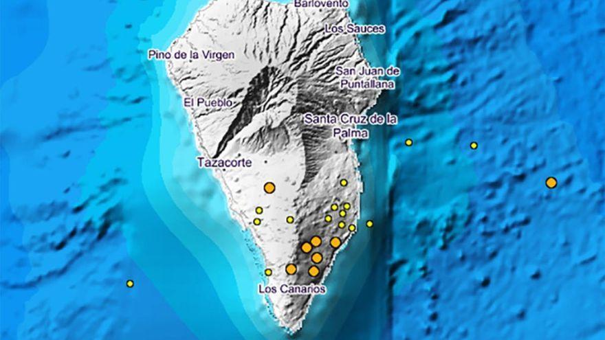 Detectados 29 terremotos en La Palma desde el sábado
