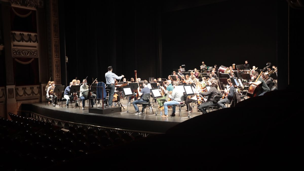 Oviedo Filarmonía, durante los ensayos del último concierto de Año Nuevo.