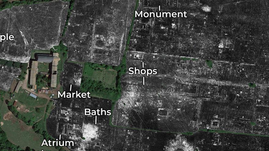 Arqueólogos descubren una ciudad romana entera sin tener que excavar en Italia