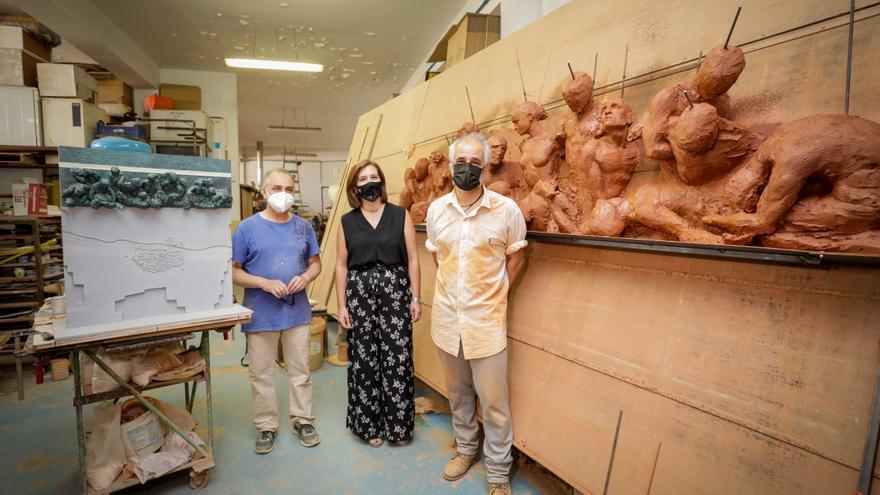 El Ayuntamiento de Zaragoza rinde homenaje a los Héroes de Los Sitios con una escultura