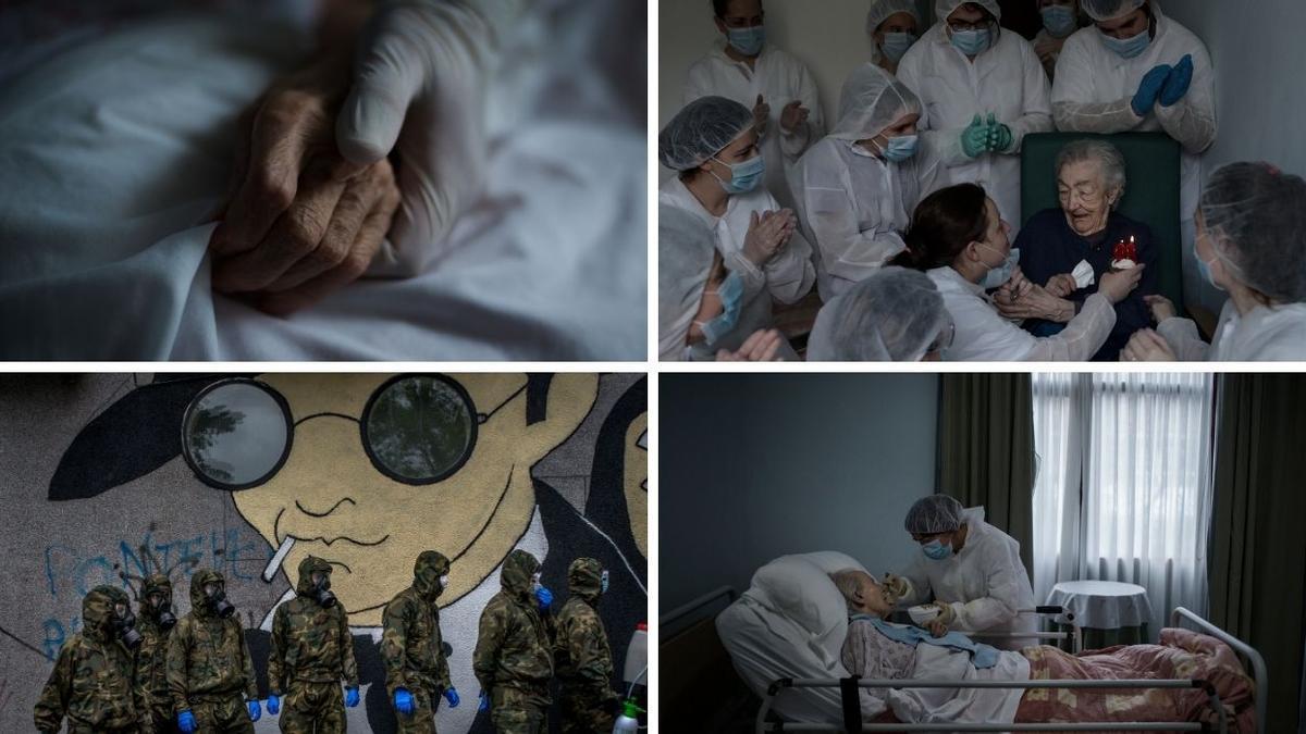 Varias de las fotos de Brais Lorenzo de la serie premiada con el Carracedo. // BRAIS LORENZO