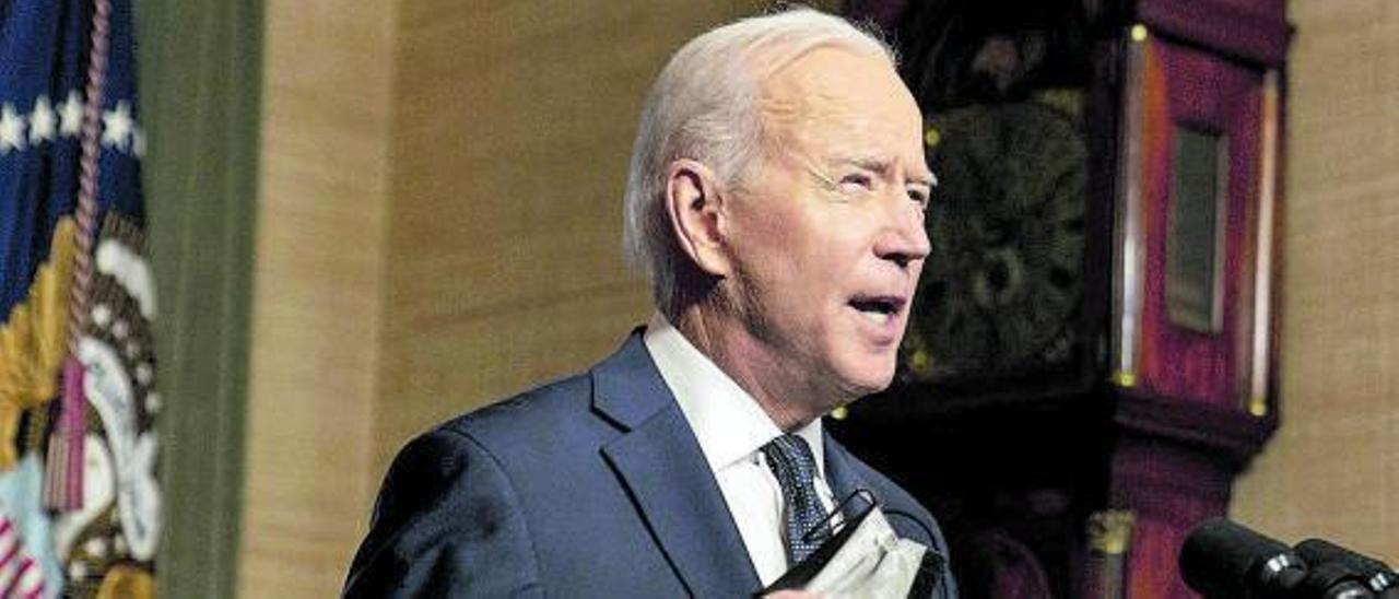 El presidente Joe Biden durante una comparecencia en la Casa Blanca.