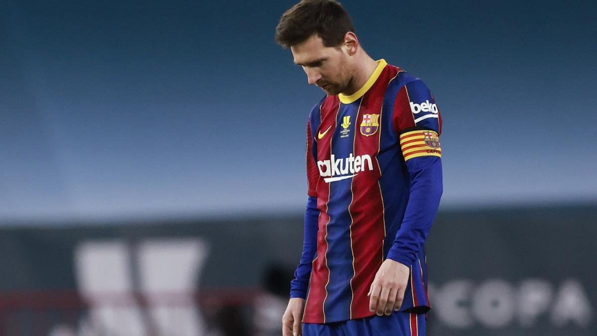 Messi, tras su expulsión el pasado domingo en la final de la Supercopa