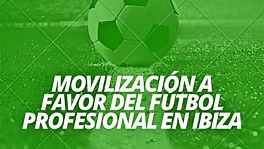 Las peñas de la UD Ibiza convocan una concentración por el fútbol profesional