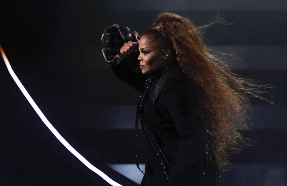 Janet Jackson performs at the 2018 MTV Europe ...