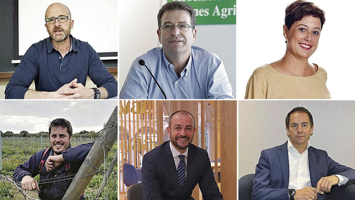 Fernando Fernández, Joan Company, Isabel Vicens, Sebastià Ordines, Luis Foix y Pablo Mas.