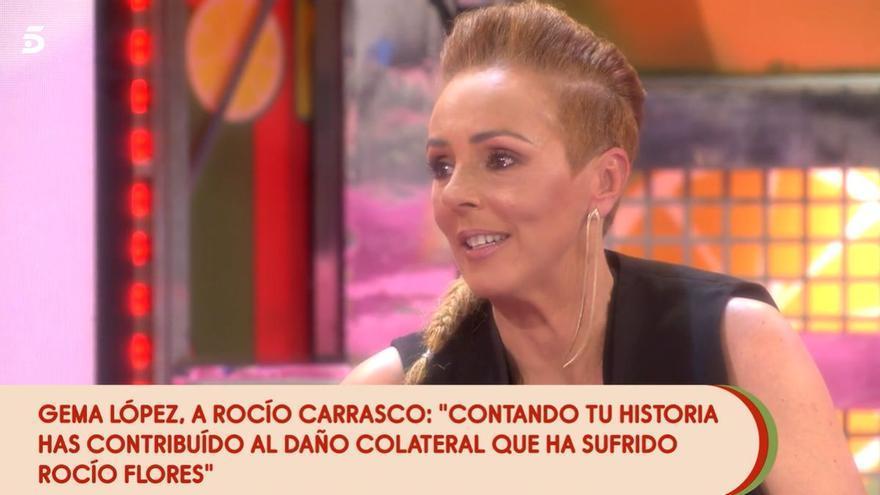 Rocío Carrasco termina llorando en 'Sálvame' tras un tenso cara a cara con Gema López