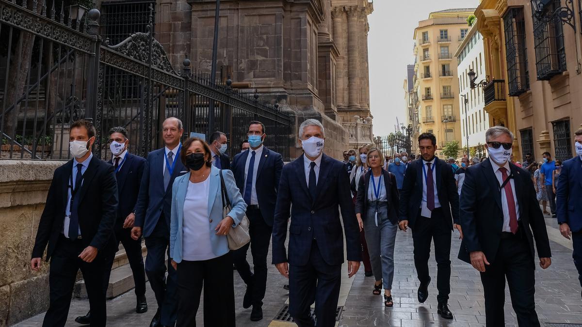Marlaska se reúne en Málaga con otros ministros de países mediterráneos para hablar de inmigración