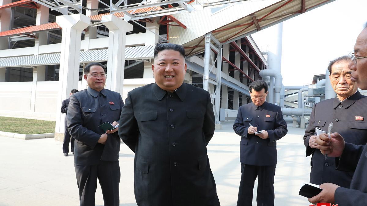 El dictador norcoreano Kim Jong-Un, en una imagen del pasado año.
