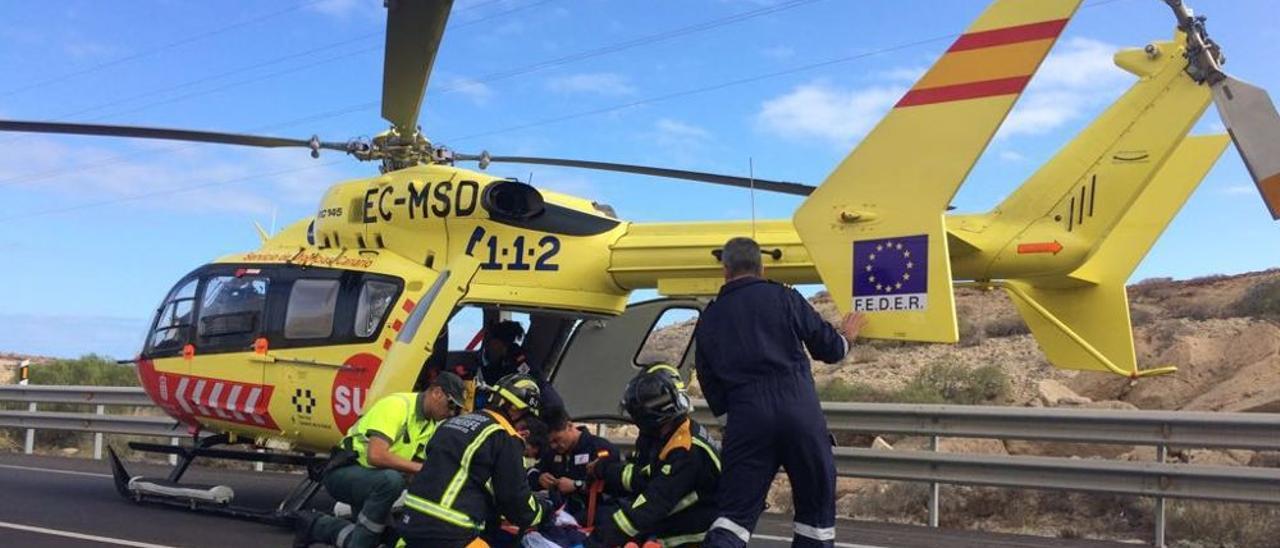 Rescate con el helicóptero del SUC en una intervención anterior.