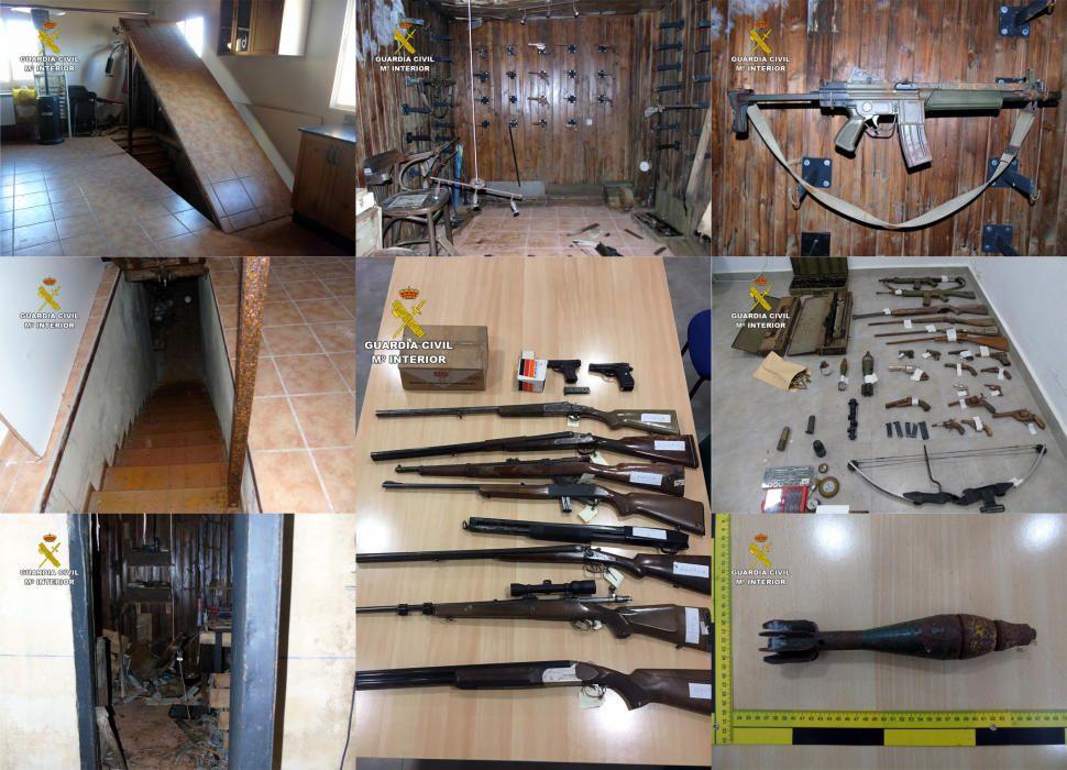Detenido en Bullas por esconder un arsenal de armas en un zulo