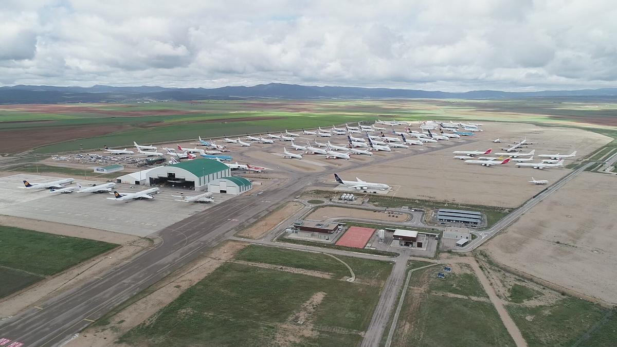 Vista aérea del aeropuerto de Teruel.