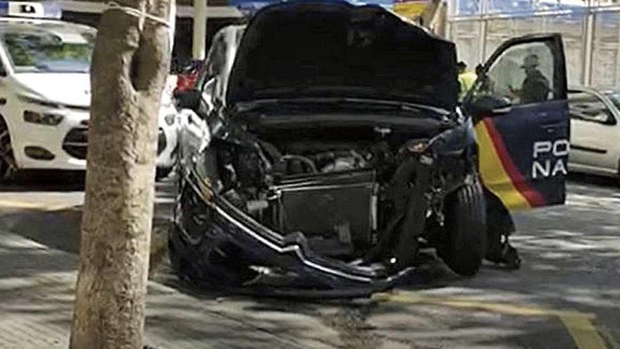 Accidente de un coche patrulla