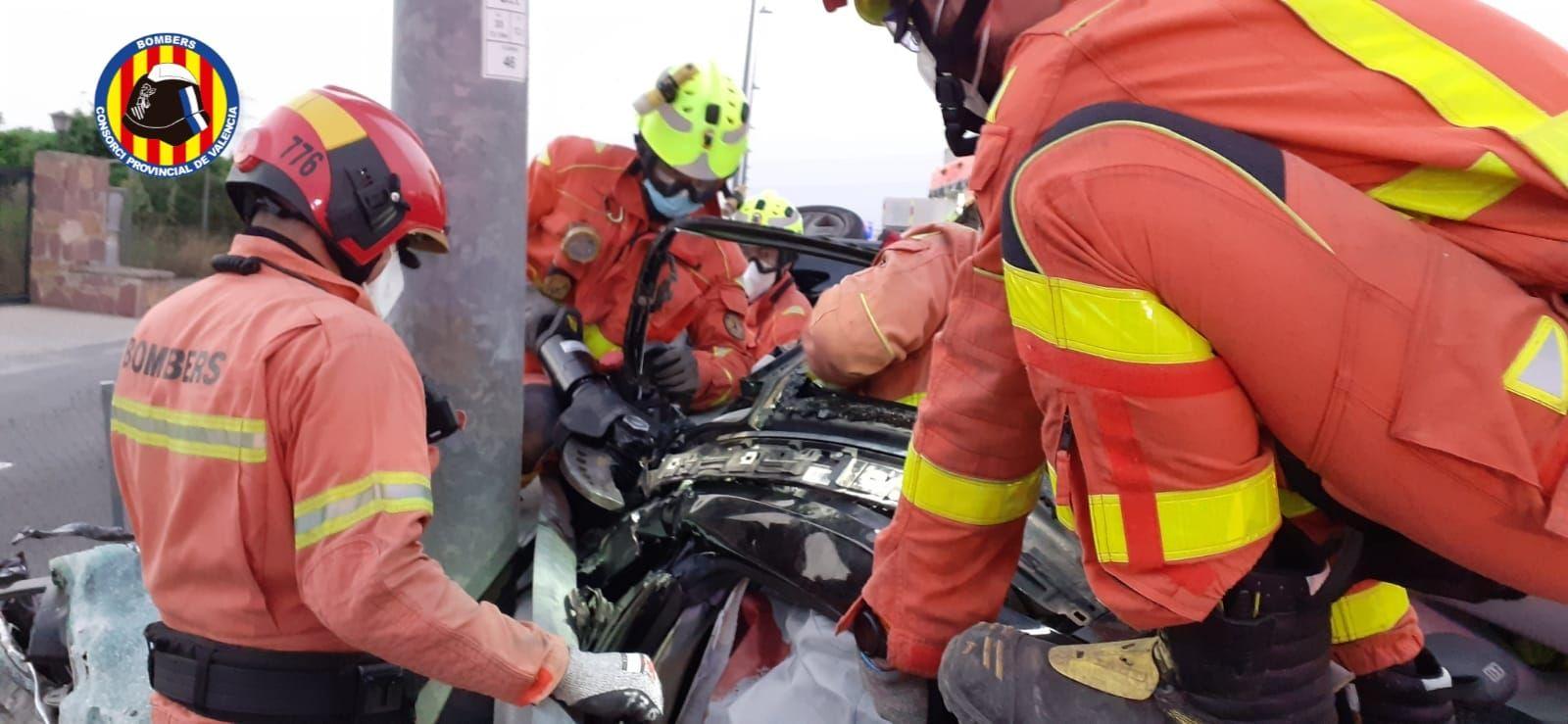 Tres heridos en un accidente en la CV35 a la altura de San Antonio de Benagéber