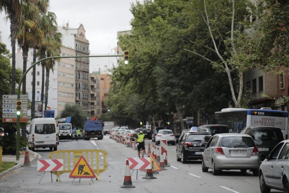 Cortes de tráfico en Vía Alemania de Palma