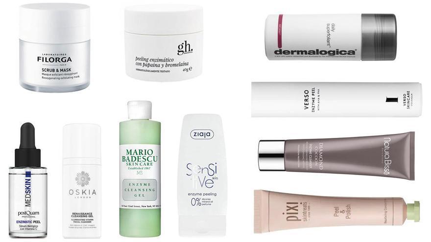 Diez exfoliantes enzimáticos que cambiarán tu piel