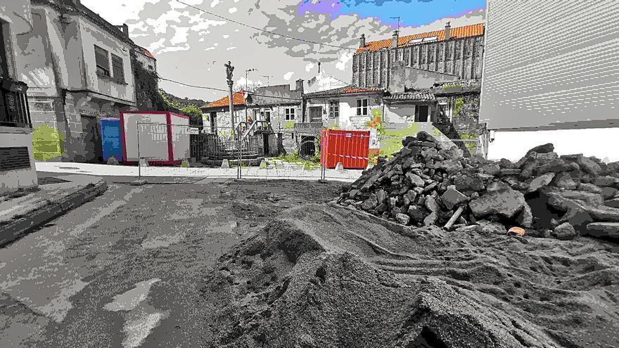 Las obras de Síngulis generan dudas entre los vecinos por el uso de cemento