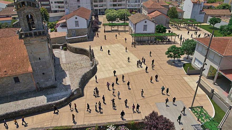 Tomiño ultima el comienzo de la obra de urbanización del núcleo urbano de Goián