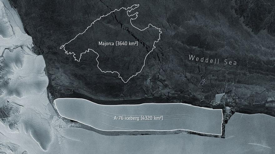 L'iceberg més gran del món es desprèn de l'Antàrtida