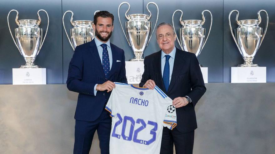 El Real Madrid renueva hasta 2023 el contrato de Nacho