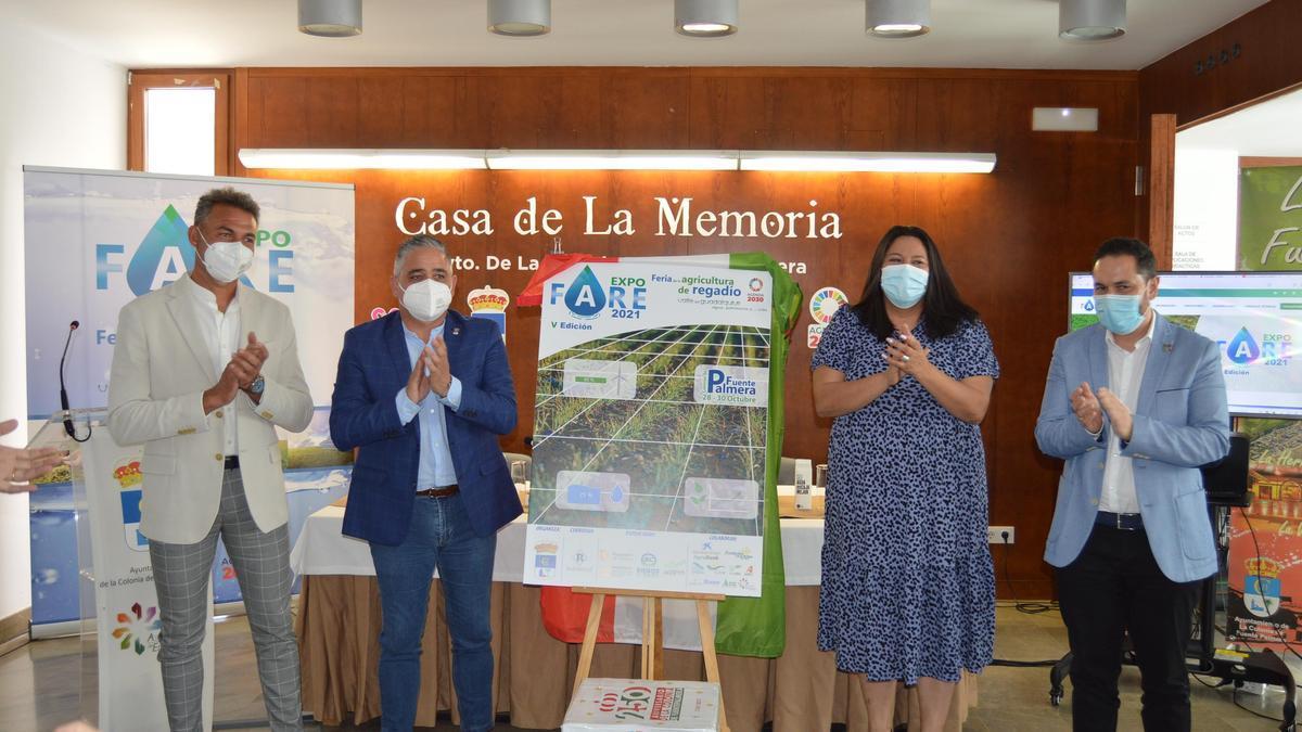 Autoridades y empresarios, en la presentación de Expofare.