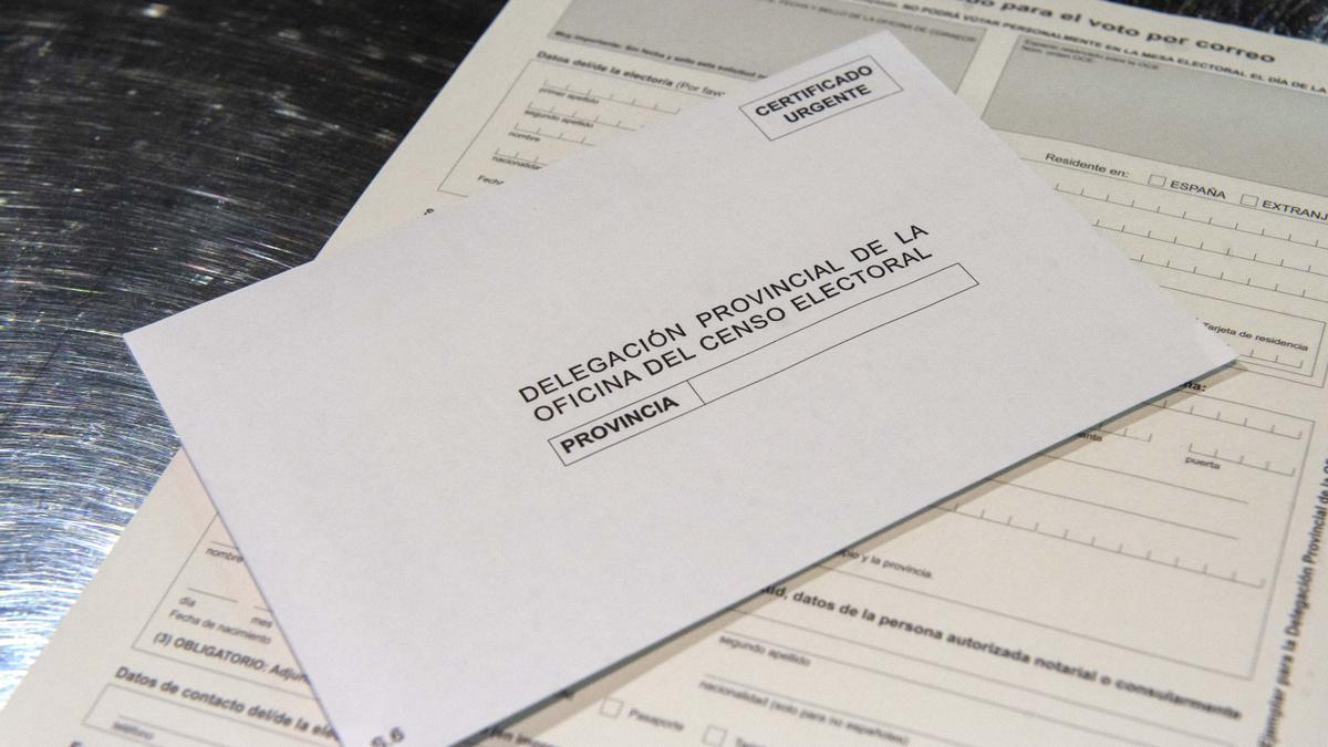 Ejemplo de voto por correo.