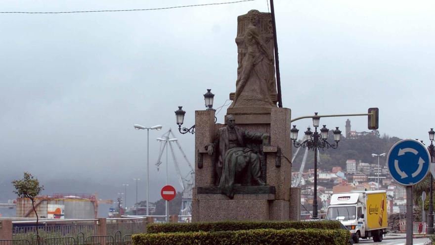 ¿Donde estaba originalmente el monumento a García Barbón?