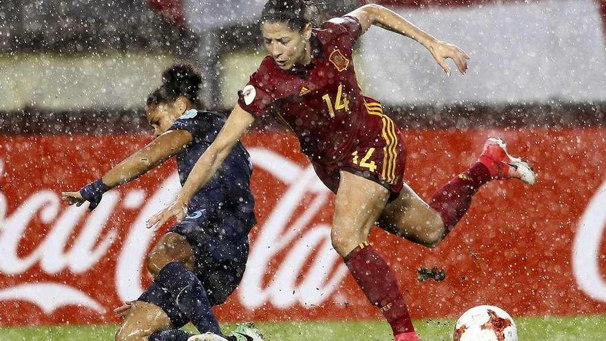 La selección española naufraga bajo la lluvia de Breda