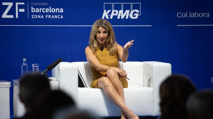 Yolanda Díaz: «Políticament hi ha marge per apujar el salari mínim aquest any»