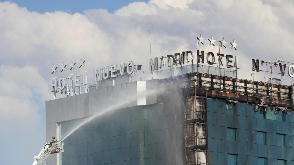 El fuego en el Hotel Nuevo Madrid se originó en la planta baja y fue accidental.