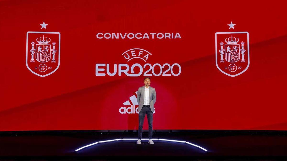 Luis Enrique, durante el anuncio de la convocatoria.