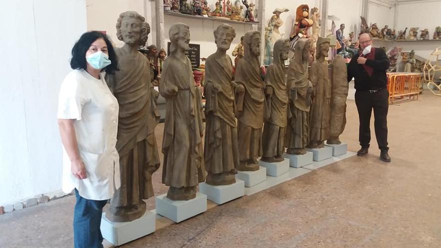 Ninots de Regino Mas para la parroquia de la Ciudad del Artista Fallero