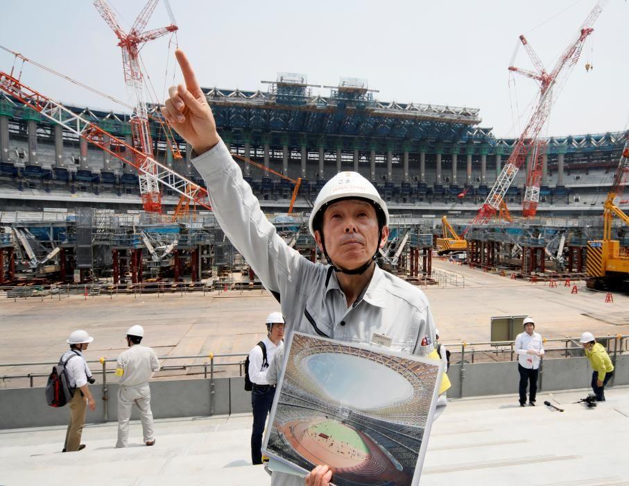 Obras del estadio olímpico de Tokio 2020