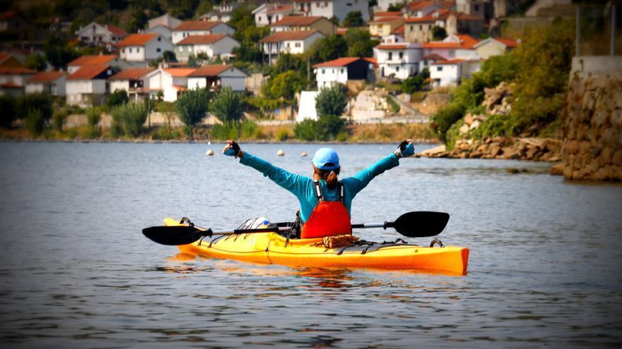 En kayak en Arribes del Duero