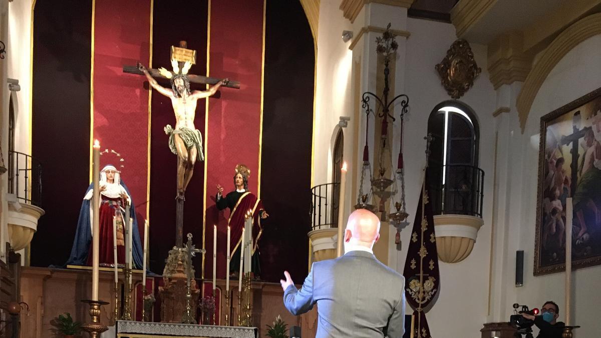 Bonela Hijo graba en el oratorio de la Virgen de las Penas