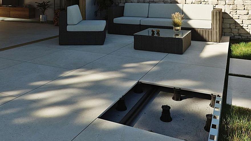 Butech aporta diseño a los exteriores  con la cerámica espesorada Thic'ker