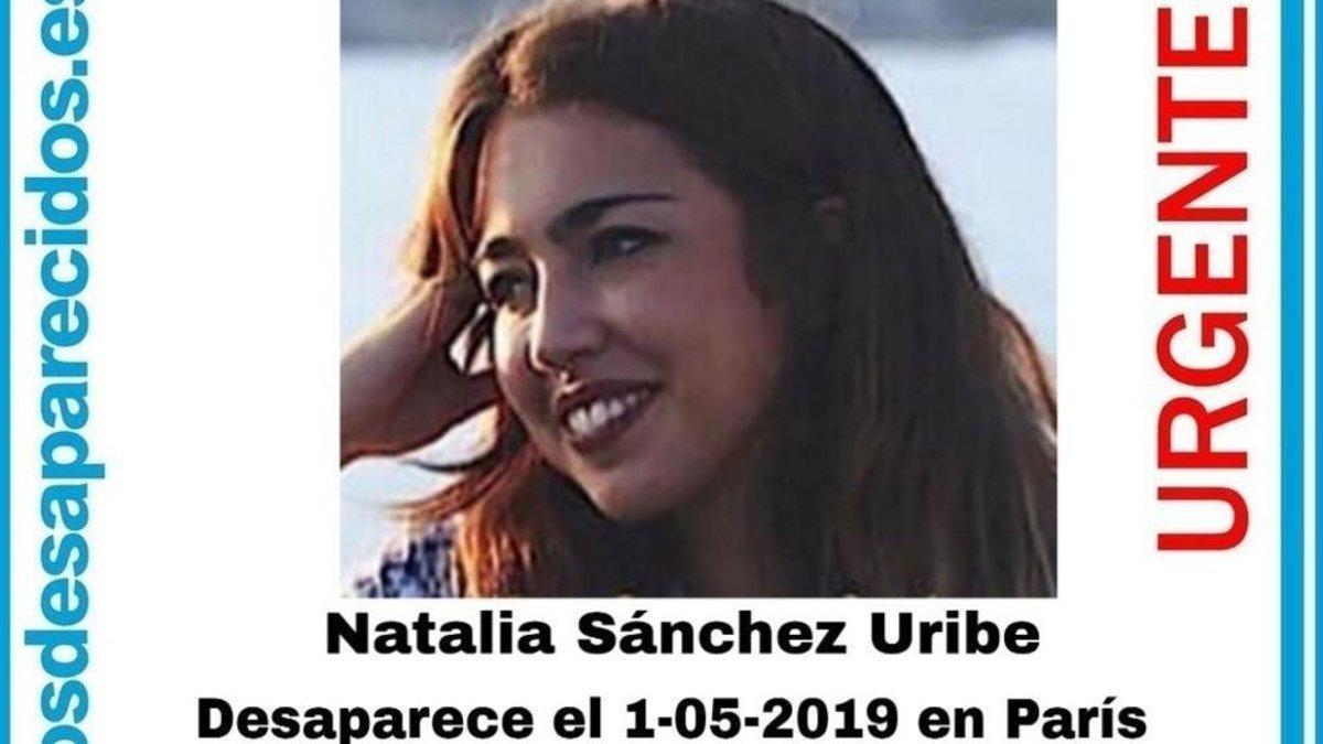 Localizada viva Natalia Sánchez Uribe, la joven española desaparecida en París