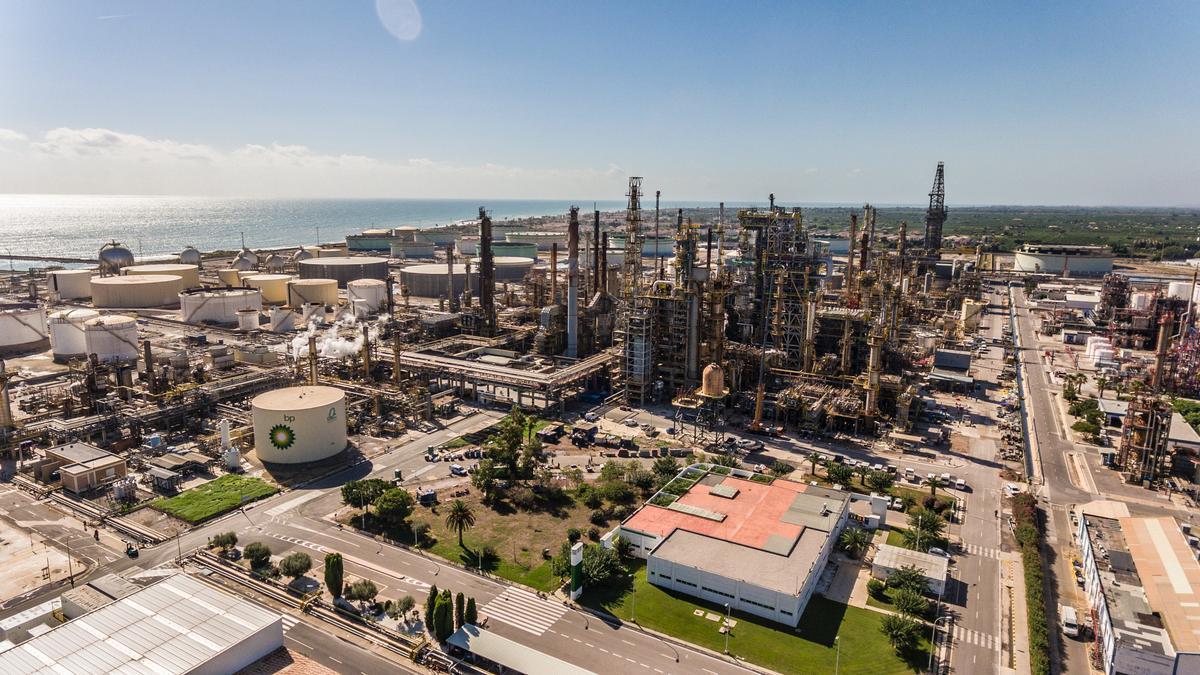 Imagen de las instalaciones de BP en Castelló, donde se ubicará la infraestructura para la generación de hidrógeno verde
