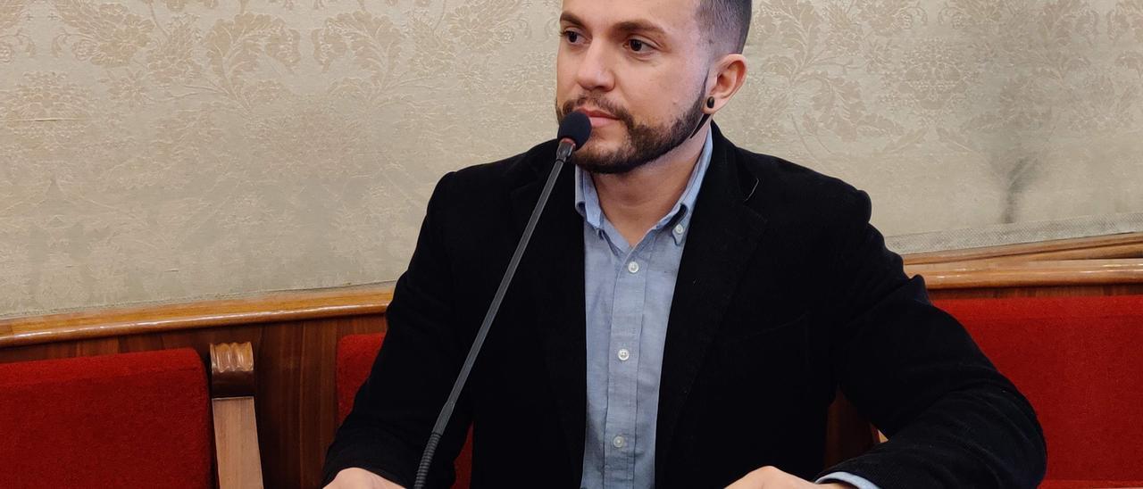 El concejal de Compromís, Rafael Mas, en un Pleno