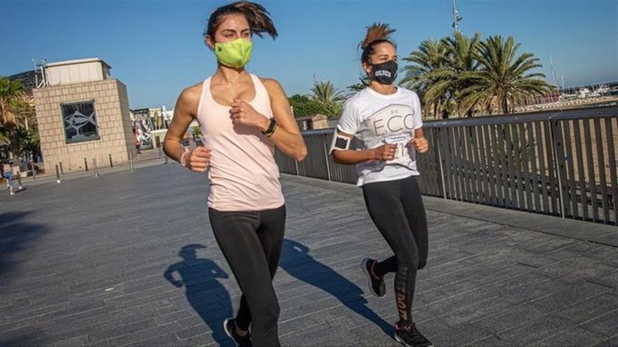 Expertos aconsejan a los deportistas de larga distancia fraccionar el entrenamiento por el uso de mascarilla