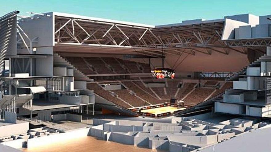 Las obras para la construcción del Valencia Arena, más cerca
