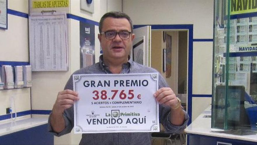 La Barca de Oro sella un boleto premiado con 38.765 euros en La Primitiva