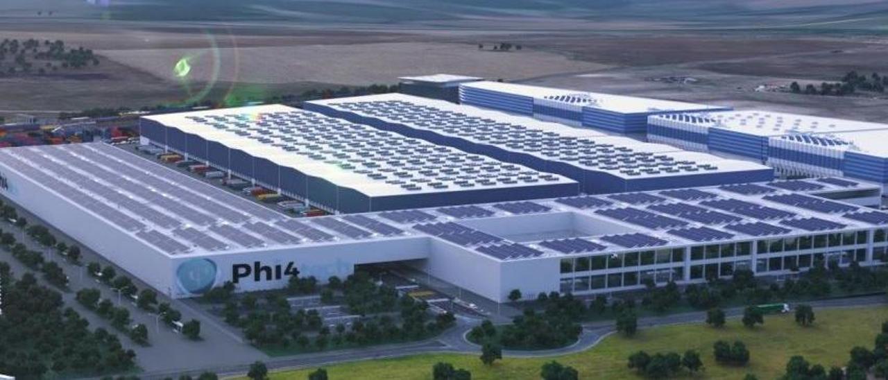 La futura planta de baterías de Badajoz.