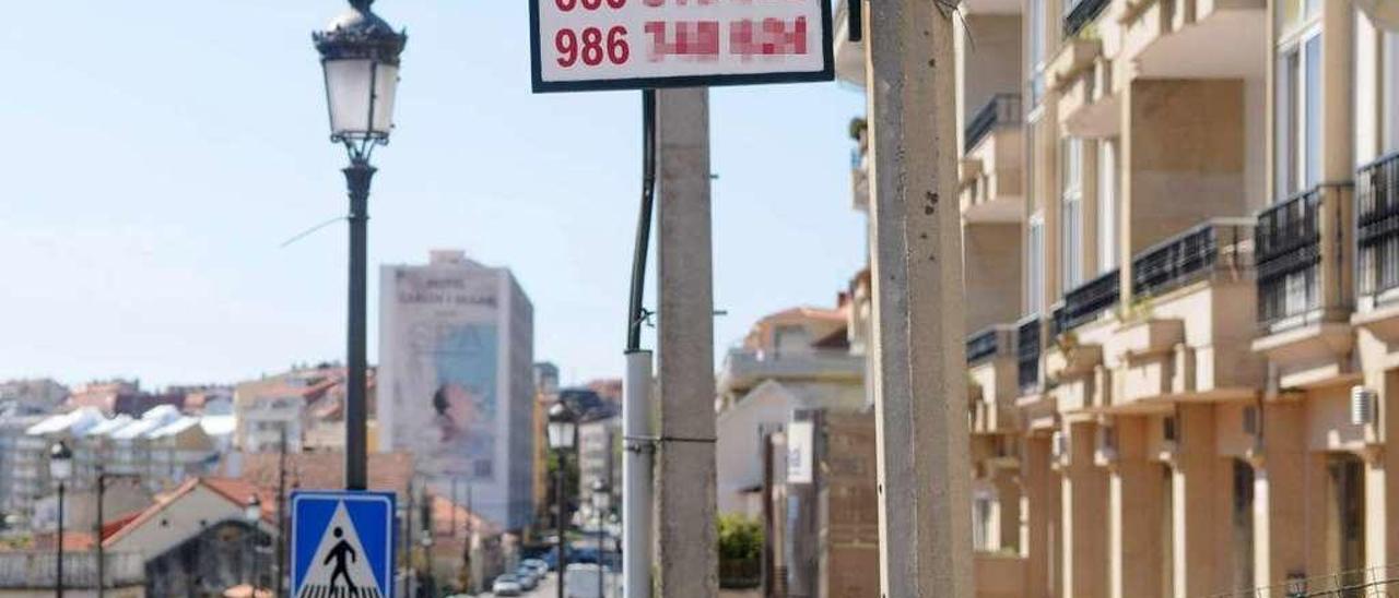 Anuncio de alquiler de pisos en la localidad de Sanxenxo