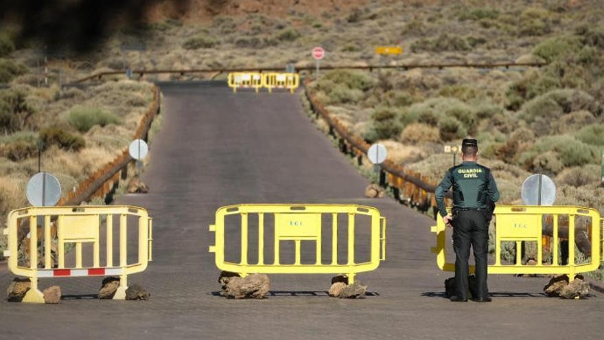 El presidente de China visita el Parque Nacional del Teide durante una hora