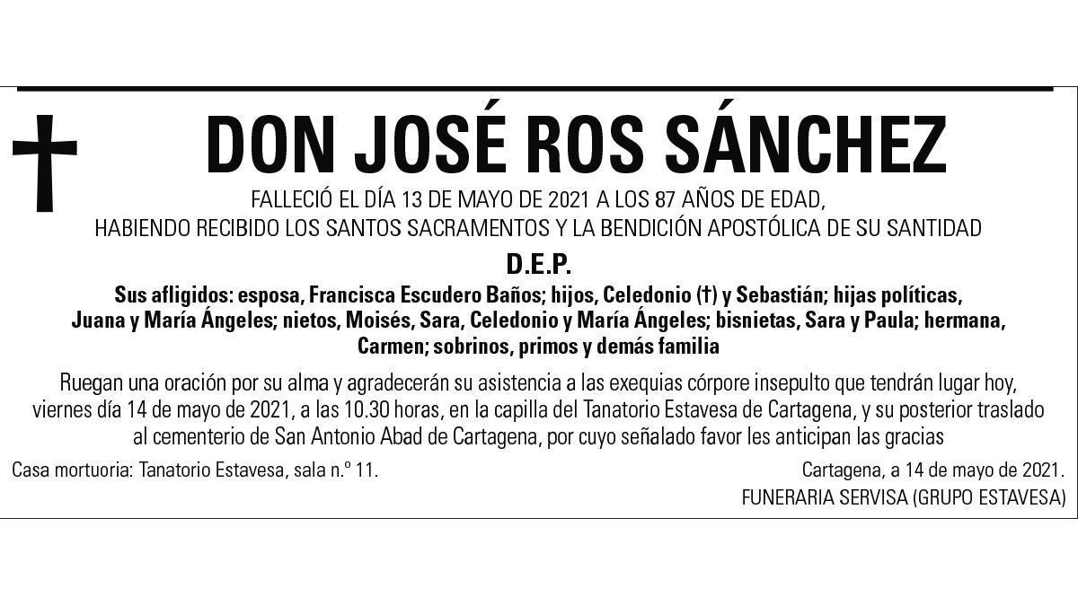 D. José Ros Sánchez