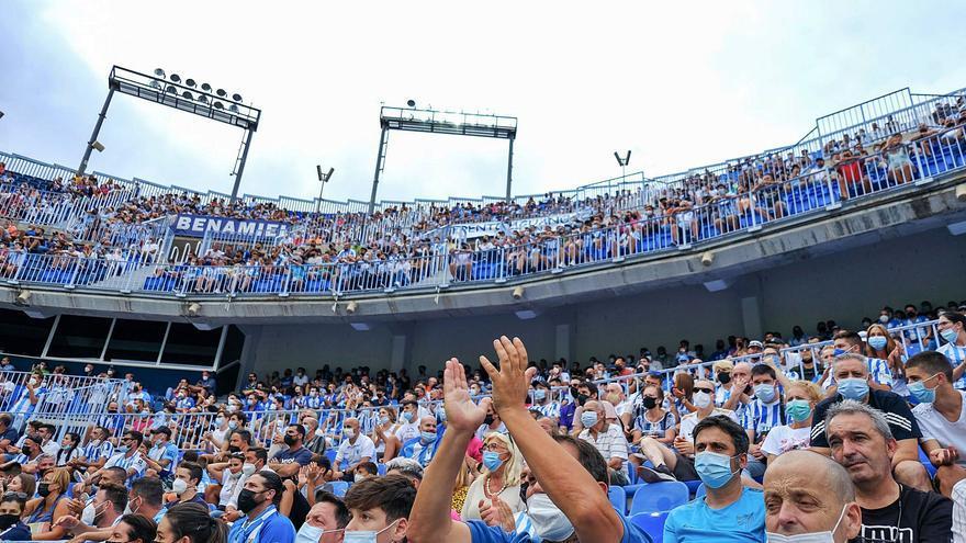 La Rosaleda no llegó a la media entrada frente al Fuenlabrada: 12.831 espectadores