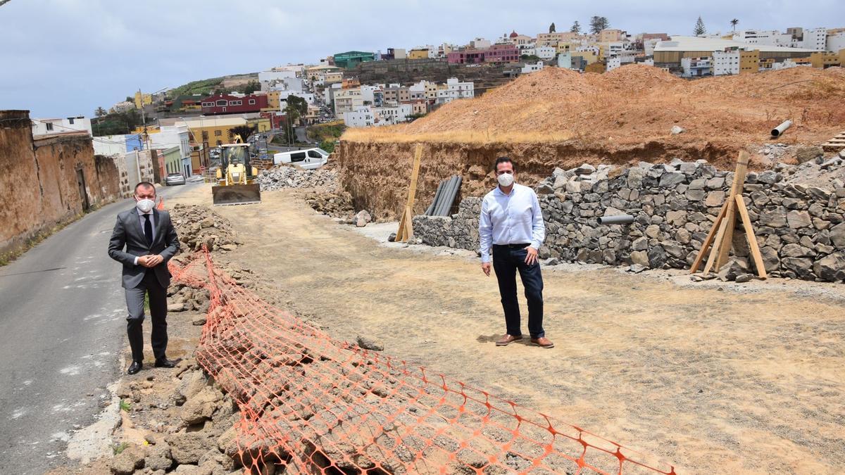 Avanzan las obras de mejora del acceso a Lomo San Antón