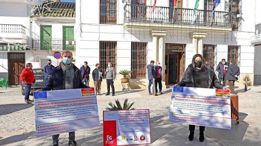 Montalbán renueva su alumbrado público a led y pone una caldera de biomasa en el CEIP Montealbo